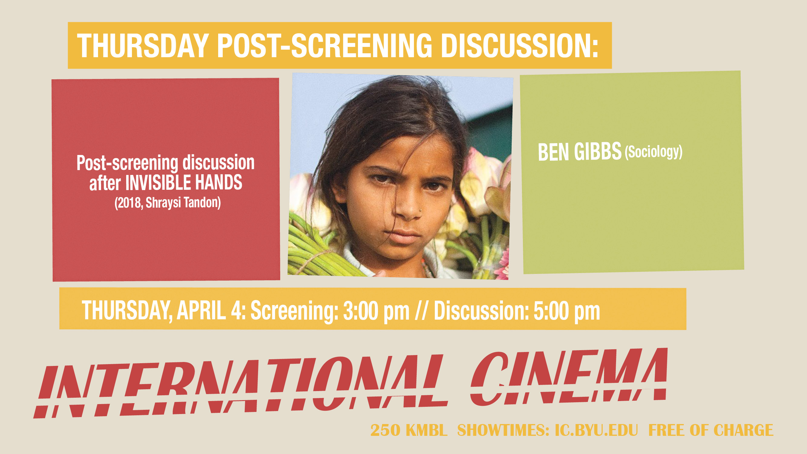 Post-Screening Discussion on Invisible Hands