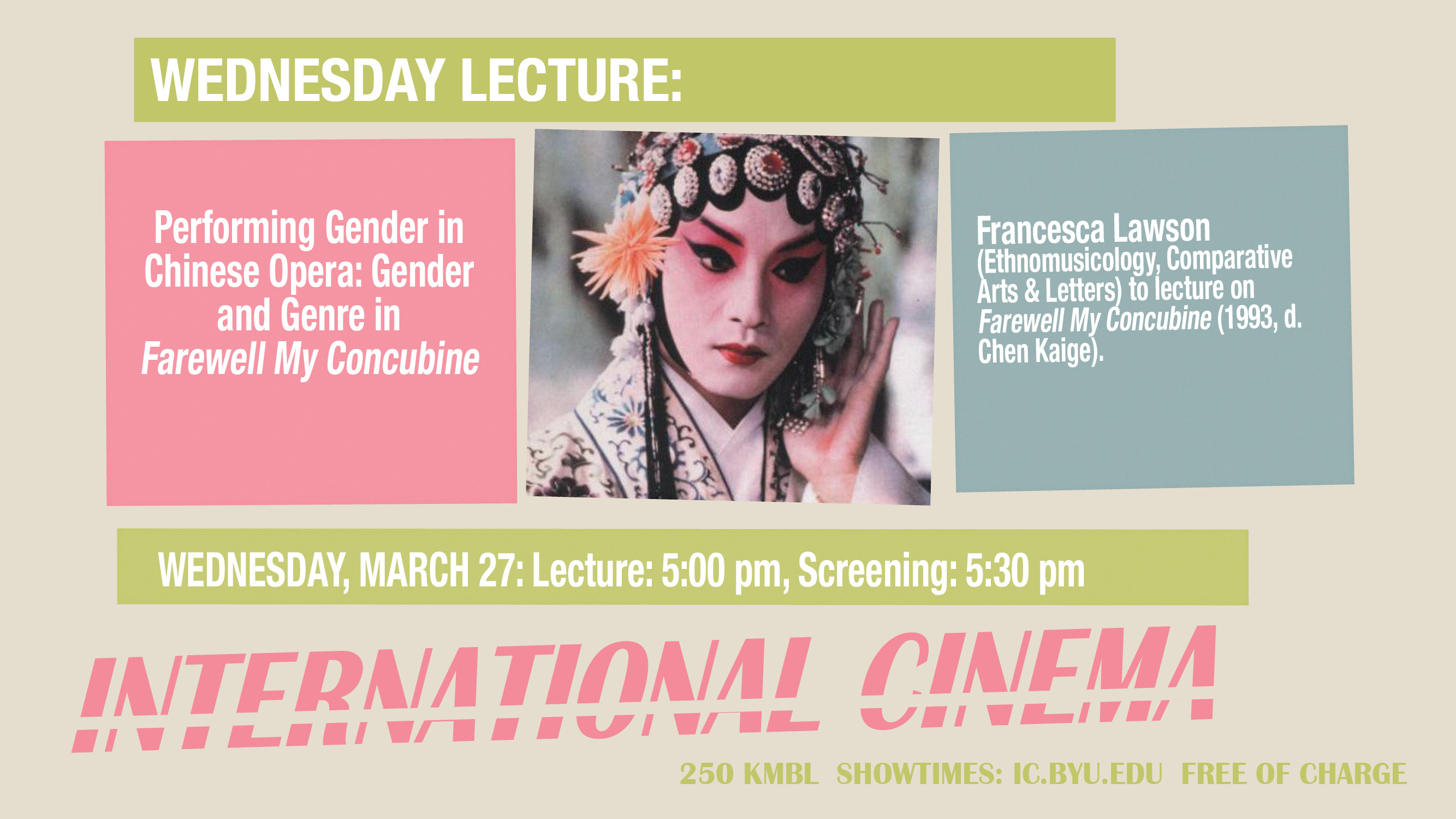Performing Gender in Chinese Opera: Gender and Genre in 'Farewell My Concubine'