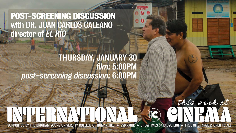 Post-Screening Q & A with Filmmaker Juan Carlos Galeano (El Río)