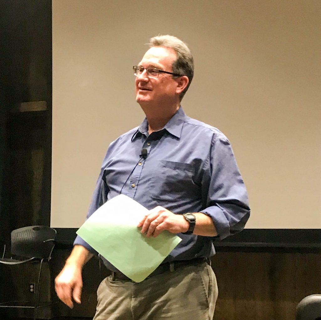 Doug Weatherford lecturing Winter 2019